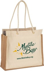Jute Canvas tote